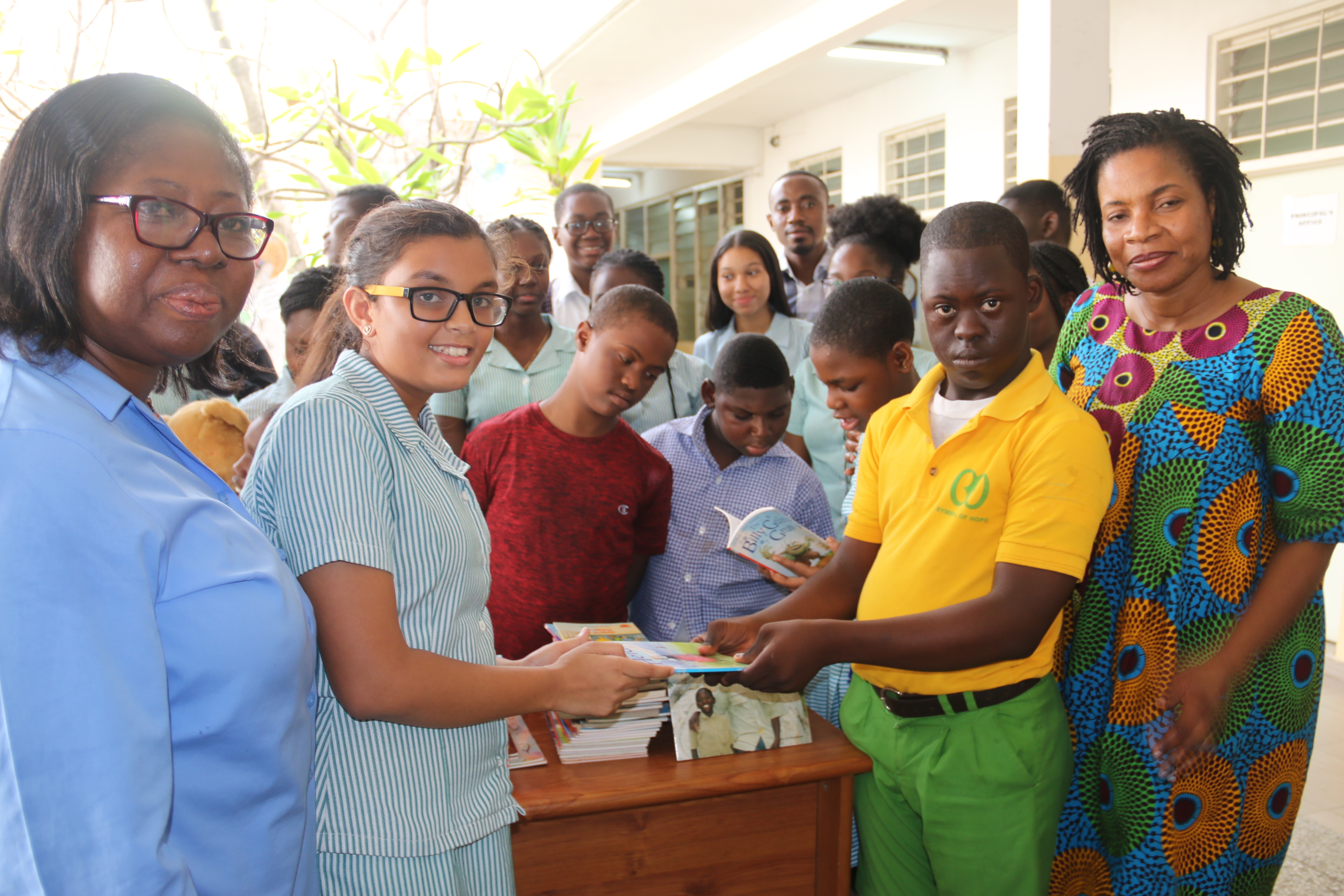 GIS Community Service Club Donates Books to New Horizon Special School