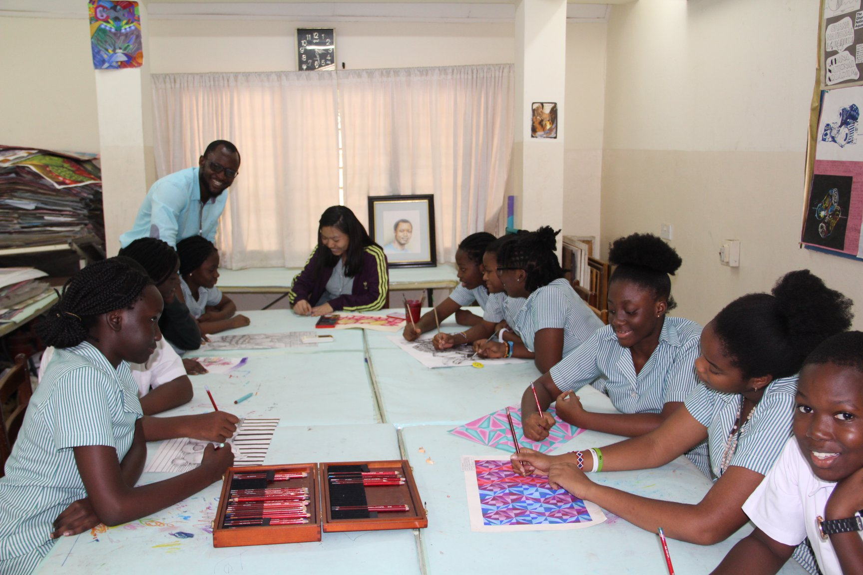 14 GIS Students set to receive prizes at the National Toyota Dream Car Art Contest.