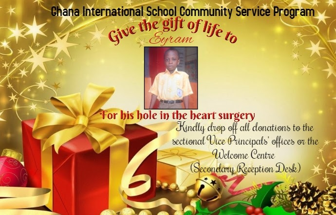 Ghana International School Appeal for Children's Heart Foundation to save Eyram Ekpe