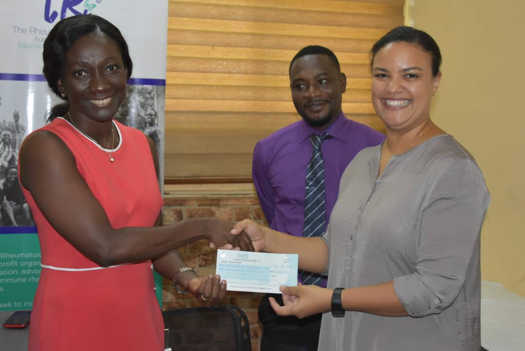 GIS-PTA DONATES TO THE RHEUMATIC INITIATIVE GHANA