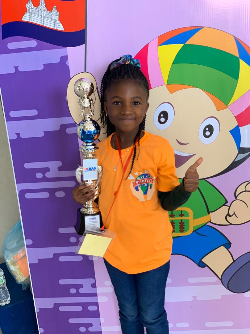 GIS' Year 2 Infant School pupil Abena  Kyei-Mensah-Bonsu shines at UCMAS